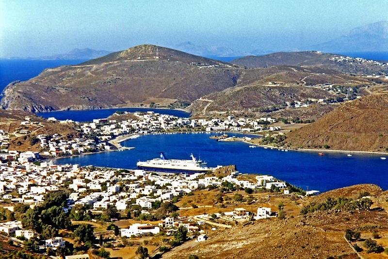 Harbor and ship on Patmos