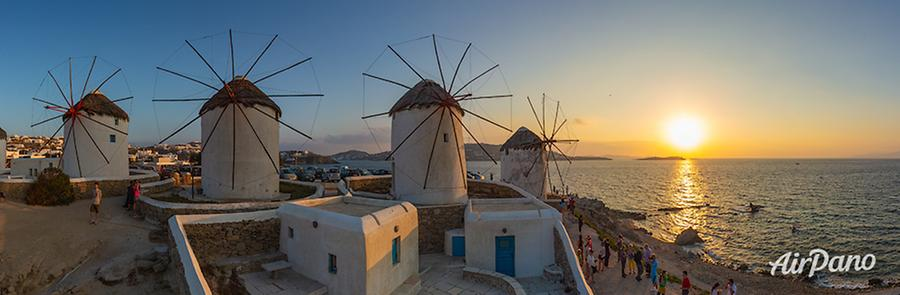 Mykonos windmills, © AirPano