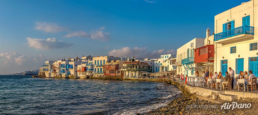 Little Venice, Mykonos, Greece, © AirPano