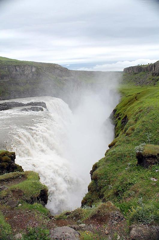 Thundering waters of the Gullfoss Waterfall