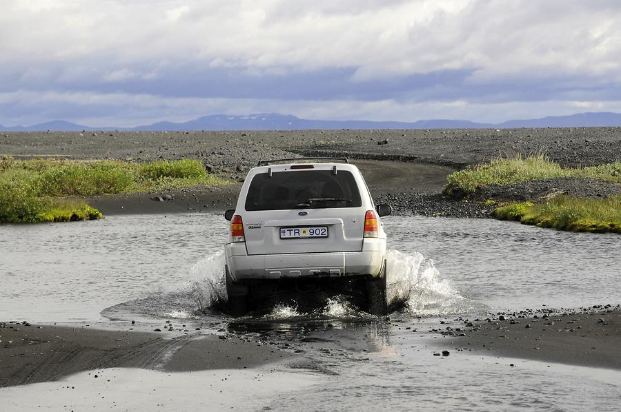 On the Road to Askja - River Fording
