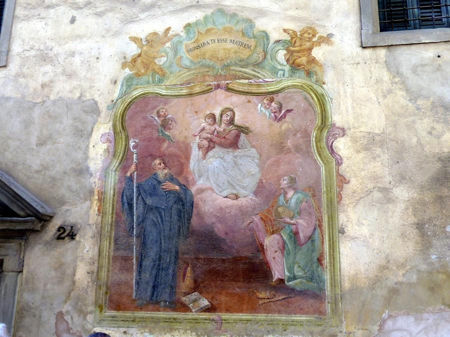 Bergamo - Painting with the Patron Saint and Martyr Alexander