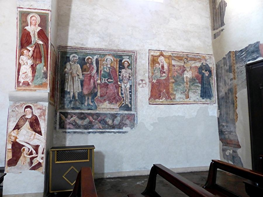 Bergamo - San Michele, Frescoes showing the Passion and Saints