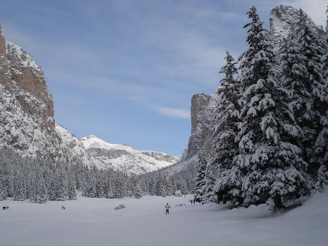 Cross-country skiing in Val Gardena