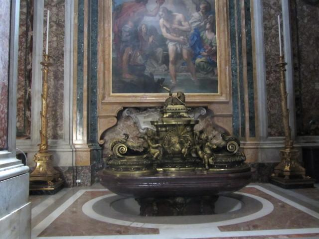 Baptismal font in St. Peters Basilica