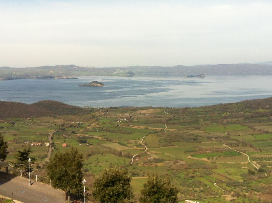 Bolsena Lake seen from Montefiascone