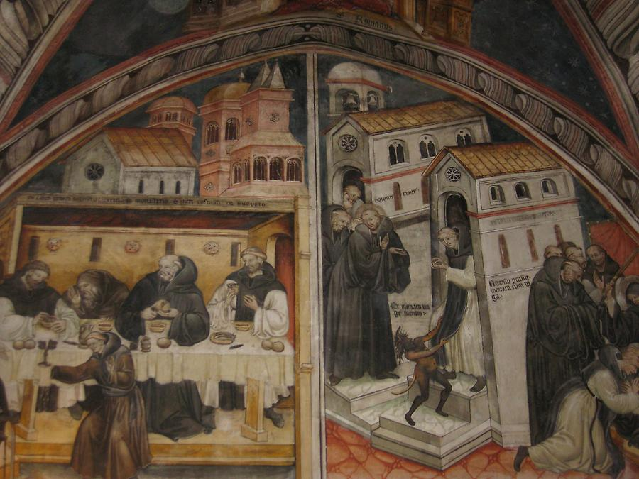 Subiaco - St. Benedict's Abbey, Fresco in the Upper Church