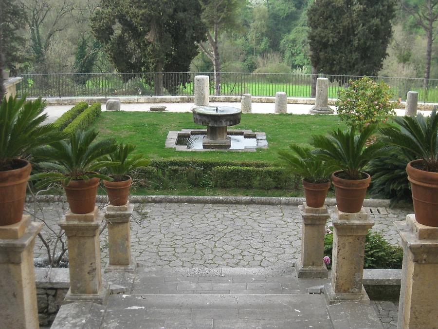 Veroli - Abbey of Casamari, Garden Terrace with Fountain