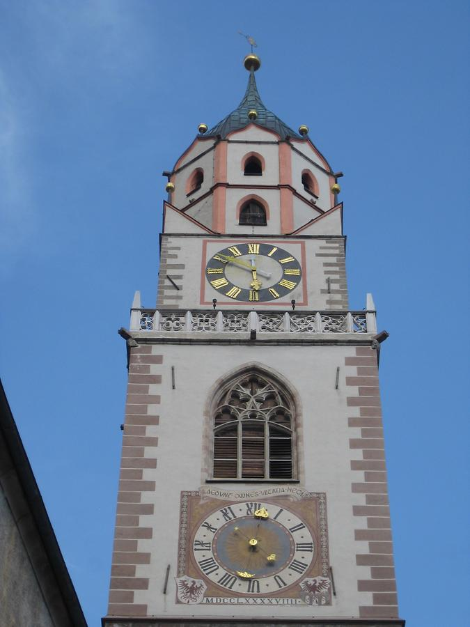 Meran - St. Nicholas' Church; Church Clocks
