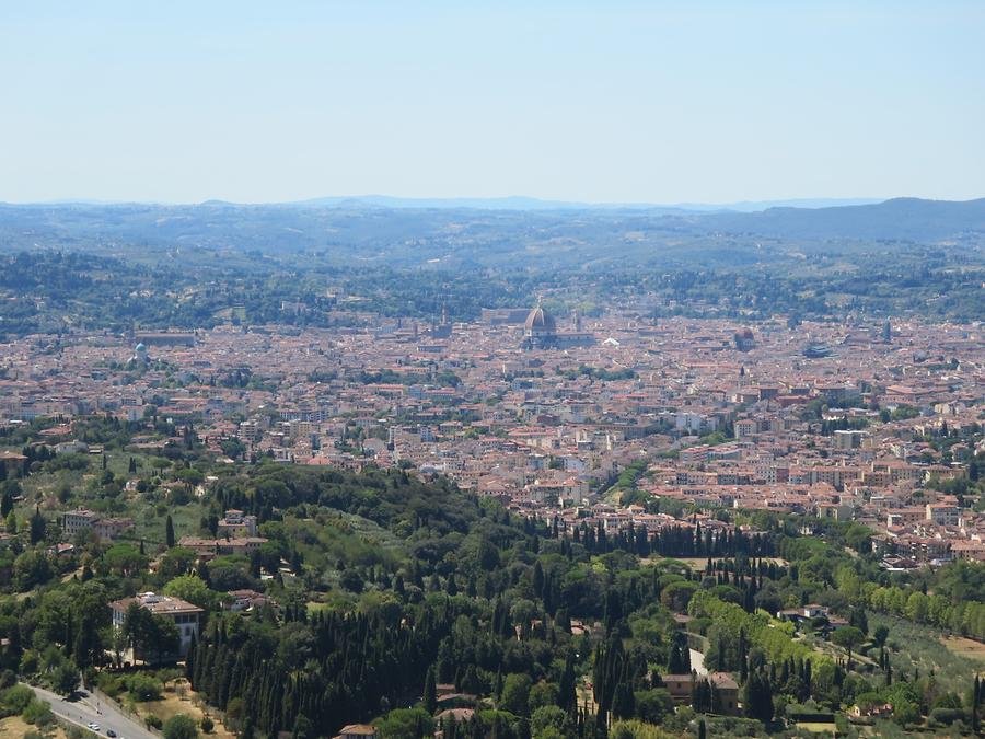 Fiesole - Park; Looking out on Florence