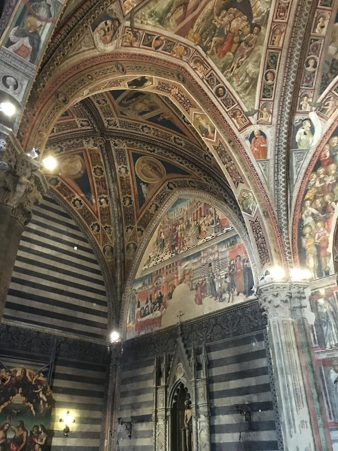 Siena - Cathedral; Baptistry of San Giovanni