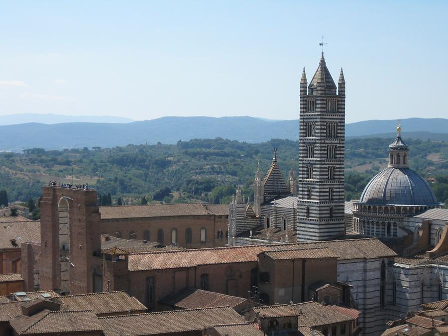 Siena - Cathedral, Bell Tower and Il Facciatone
