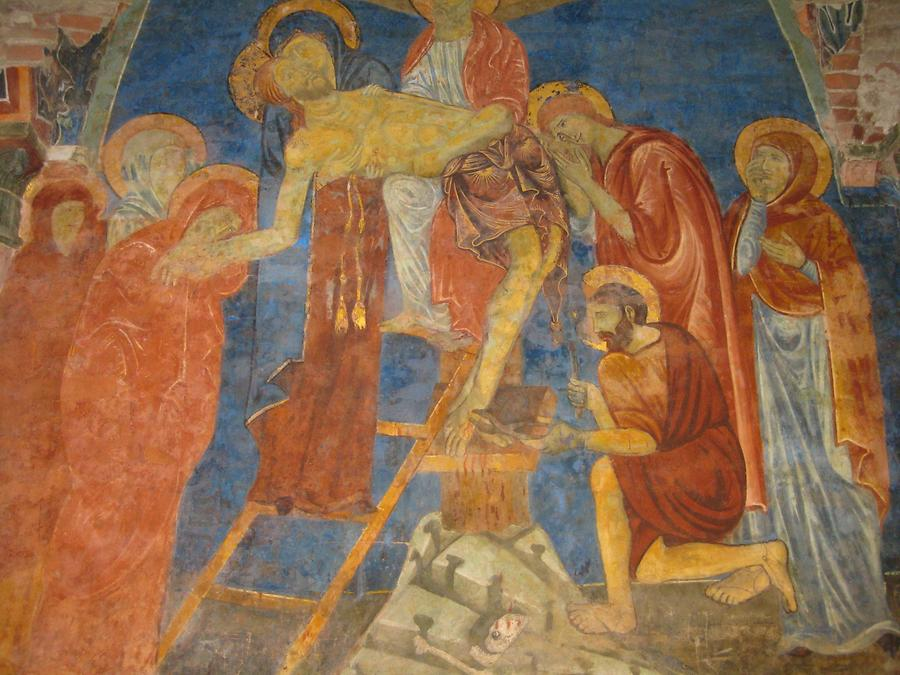Siena - Cathedral; Crypt, Fresco