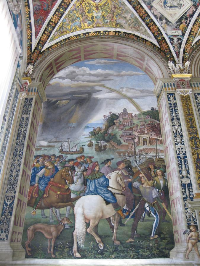 Siena - Cathedral; the Piccolomini Library, Fresco