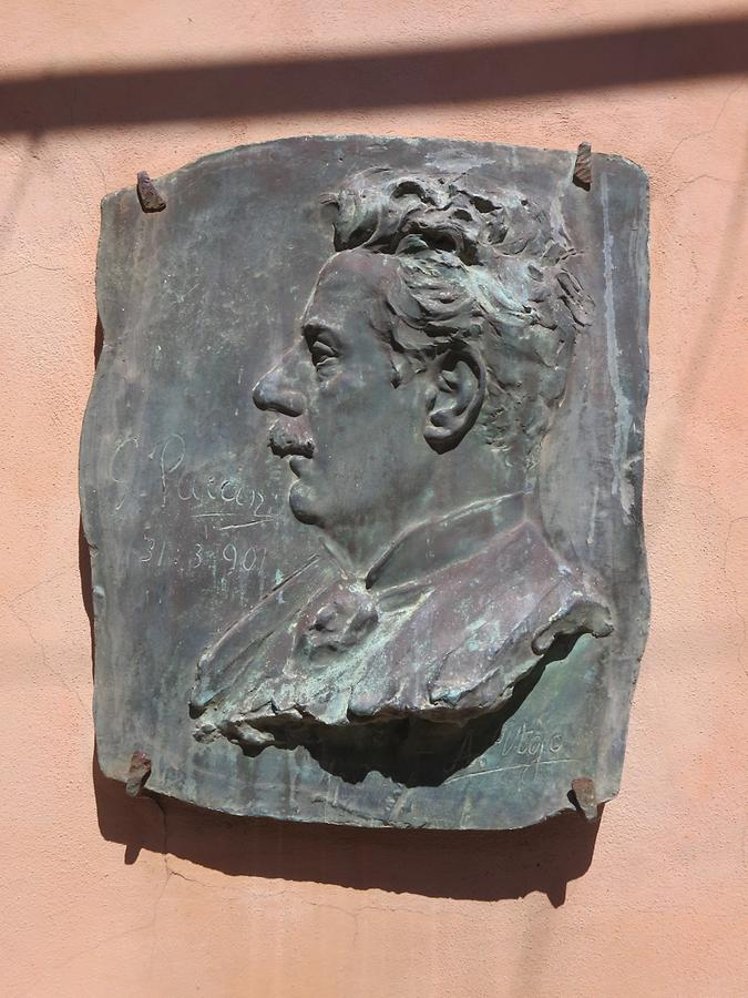 Torre del Lago - Memorial Plaque for Giacomo Puccini