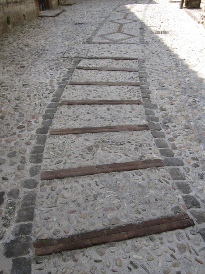 Cobbled pavement in Narni