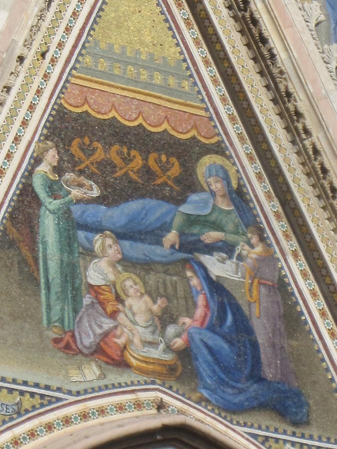 Oriveto - Cathedral, Mosaic 'Birth of the Blessed Virgin Mary'