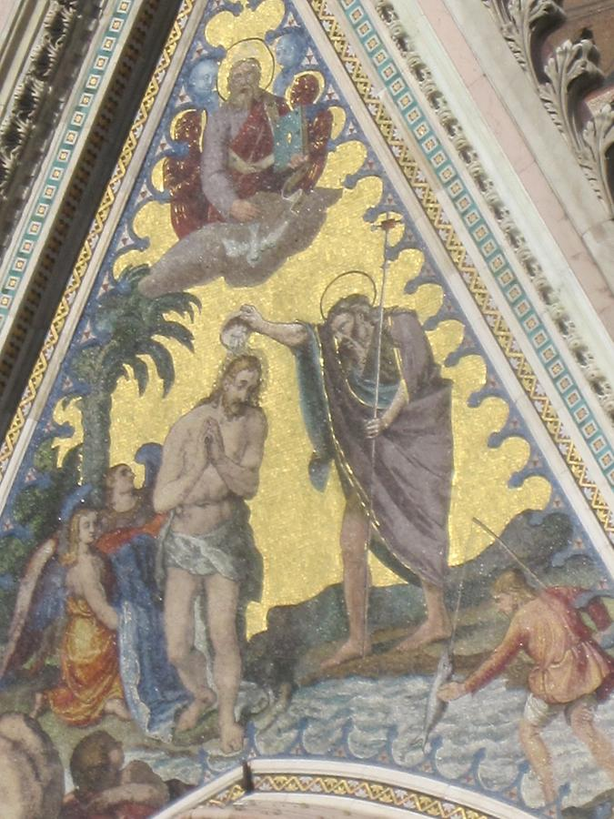 Orvieto - Cathedral, Mosaic 'Baptism of Christ'