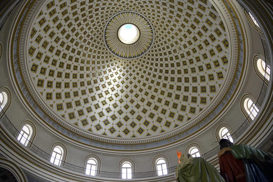 Mosta - The Parish Church of the Assumption; Dome
