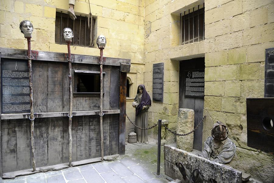 The Mdina Dungeons Museum - Forms of Penalties