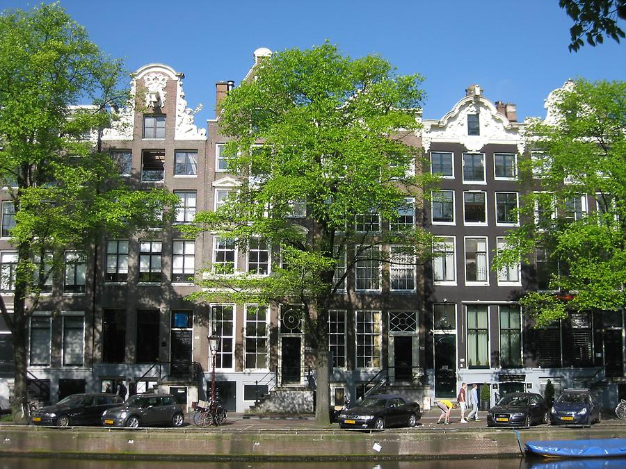Amsterdam - Patrician Houses along a Gracht
