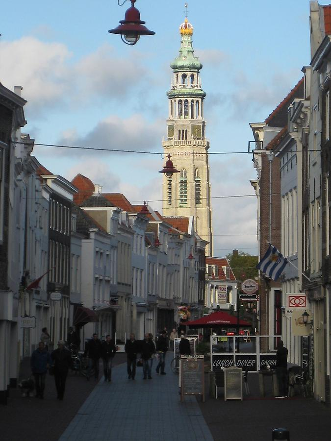Middelburg - The Abbey of our Lady with Steeple 'Lange Jan'