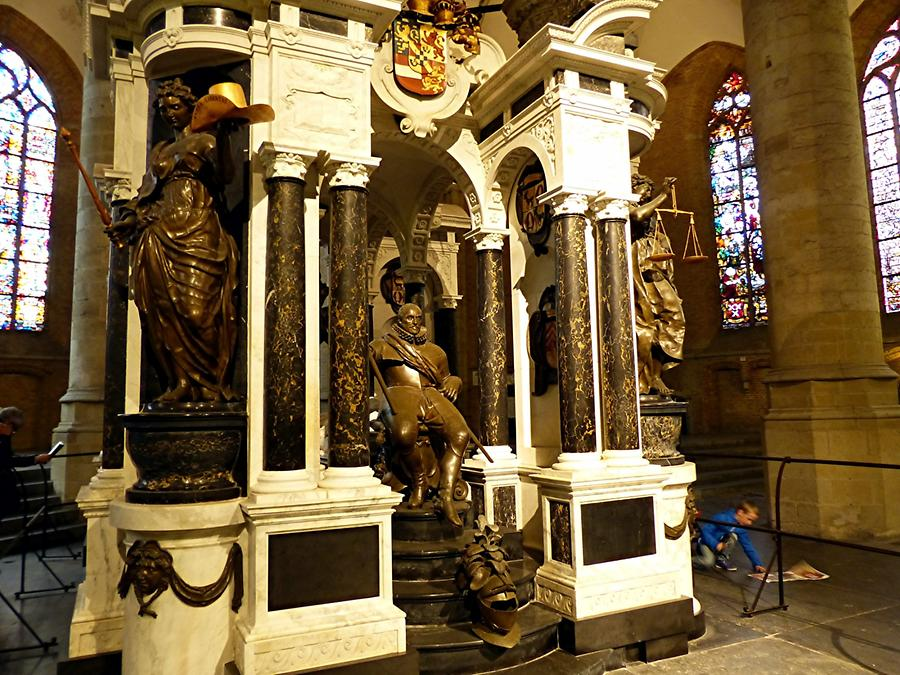Delft - Nieuwe Kerk; State Tomb of William I, Prince of Orange, died 1584 in Delft