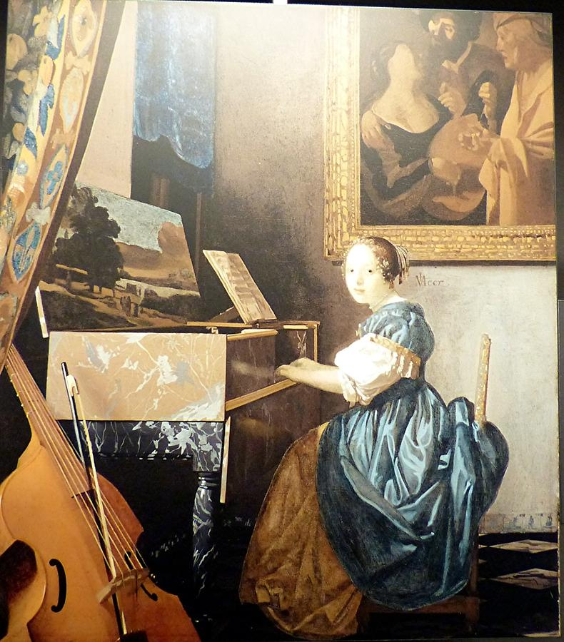Delft - Vermeer Centre; 'Lady Seated at a Virginal'