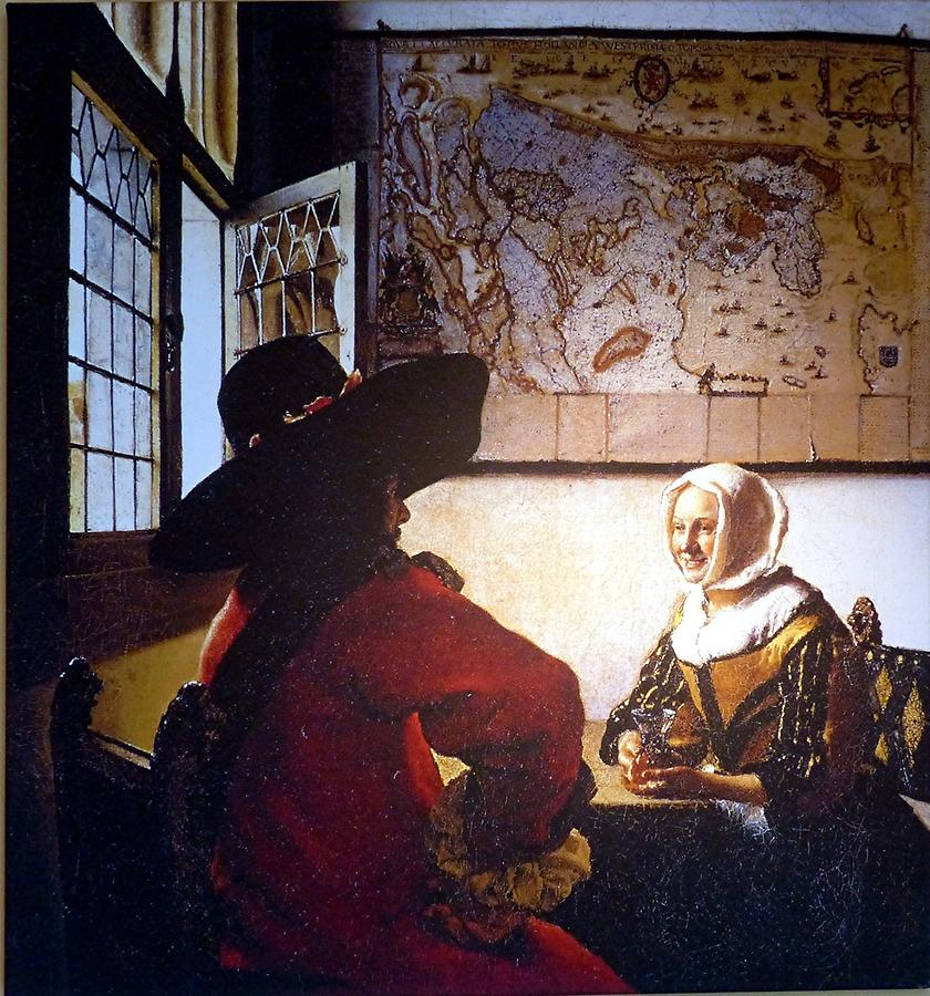 Delft - Vermeer Centre; 'Officer and Laughing Girl'