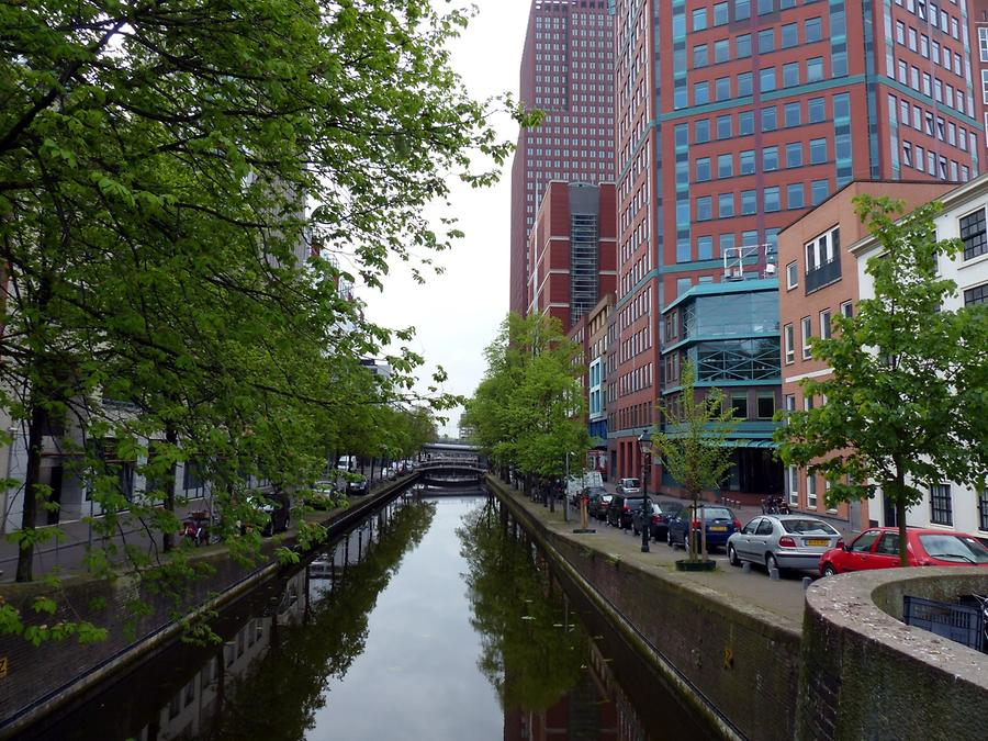 The Hague - Gracht in the Modern Administrative District