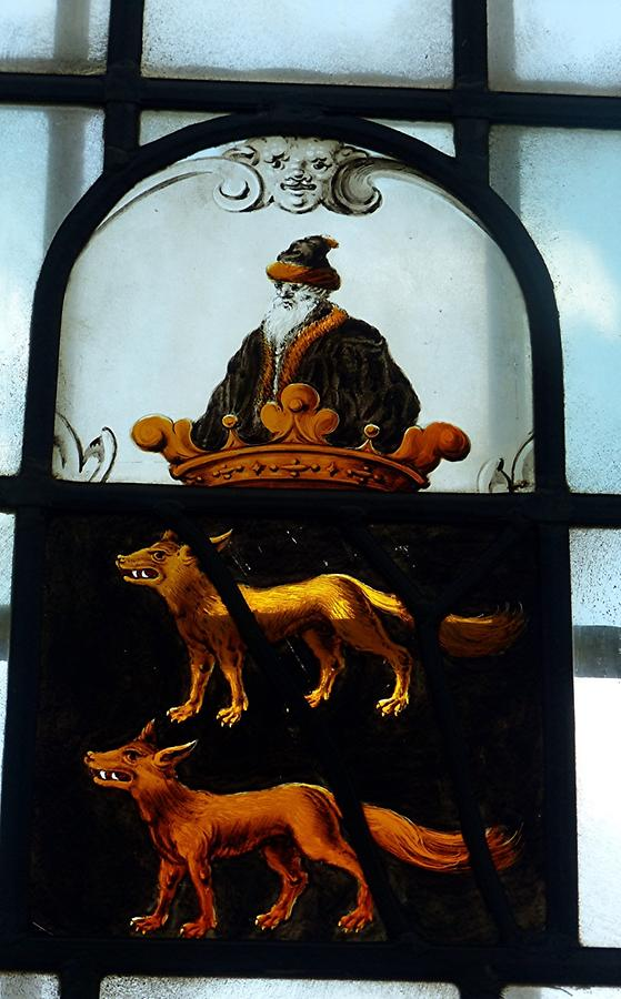 Haarlem - Frans Hals Museum; Stained-glass Window