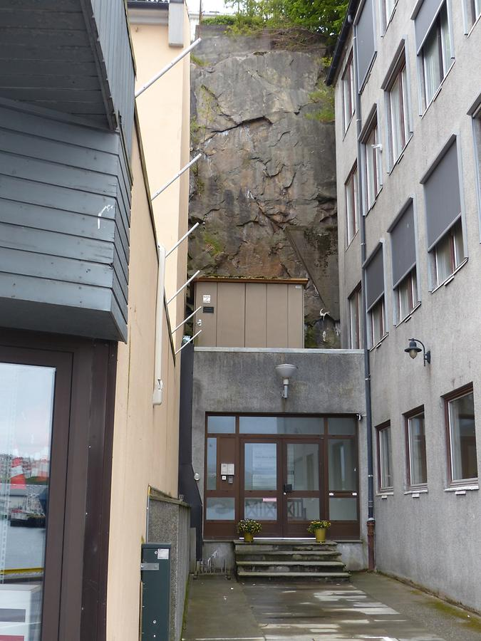 Kristiansund - Dead-End Street with Rock Face