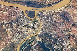 Sattelite Image of Belgrade