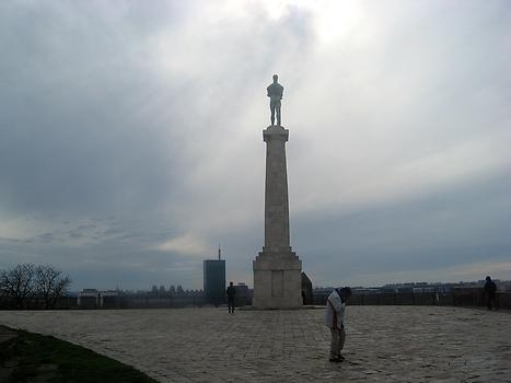 Frontal view of Pobednik monument, Belgrade, Serbia. 2015. Photo: Clara Schultes
