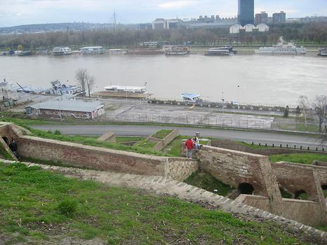 View from the Belgrade Fortress to New Belgrade, View from the Belgrade Fortress to New Belgrade, Belgrade, Serbia. 2015. Photo: Clara Schultes