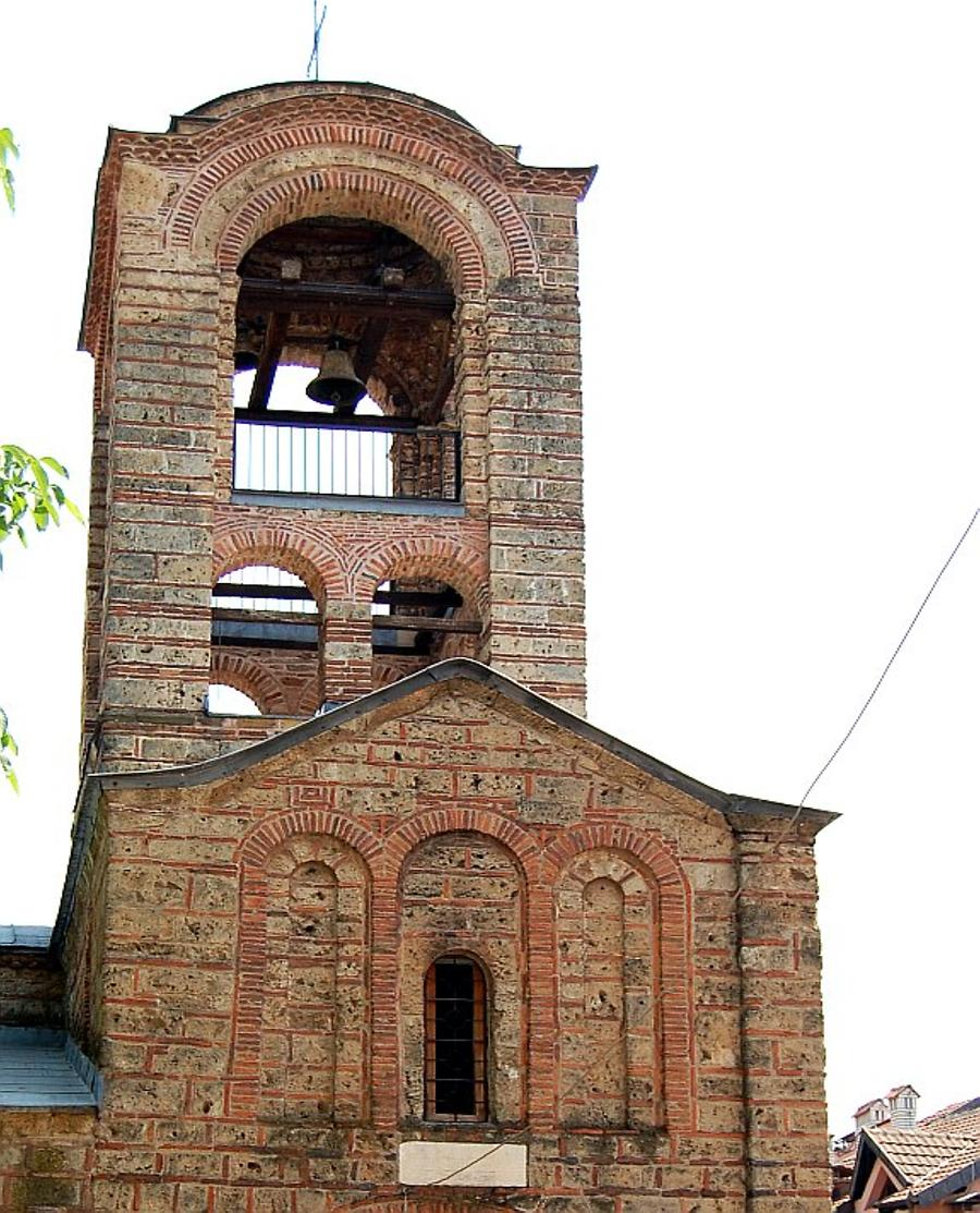 On the west side of the church, above the narthex, there is a bell-tower. Photo: Dragan Radovanović, 2009, Photo made available by Mathematical Institute SANU, Belgrade