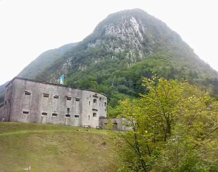 Kluže Fortress/Fort Hermann, the seat of the Austro – Hungarian garrision close behind the front line during the Battles of the Isonzo, World War I, Triglav National Park, Bovec, Slovenia. 2015. Photo: Clara Schultes