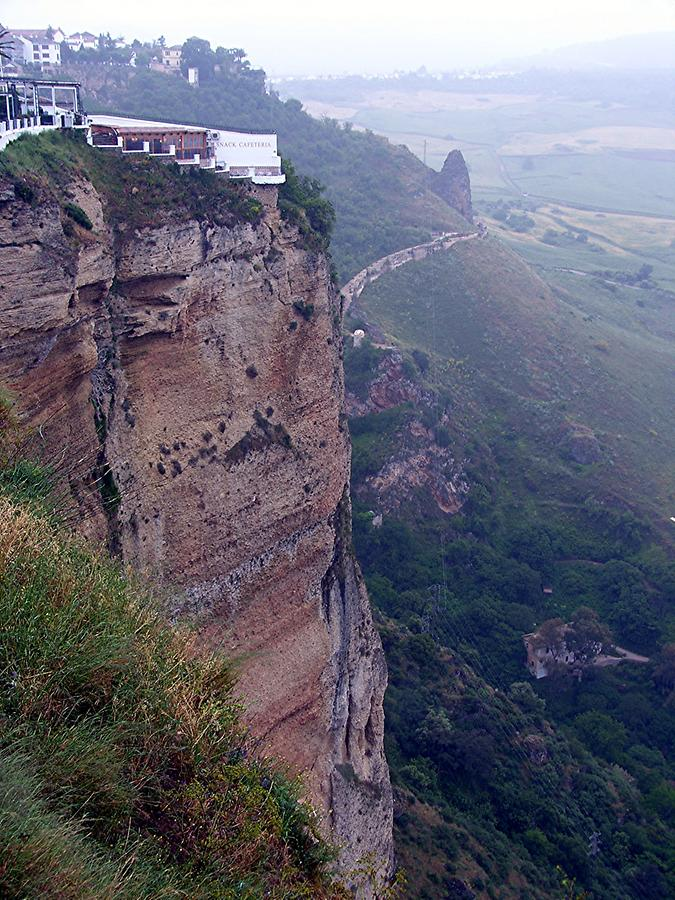 Ronda - Tajo canyon with part of city wall