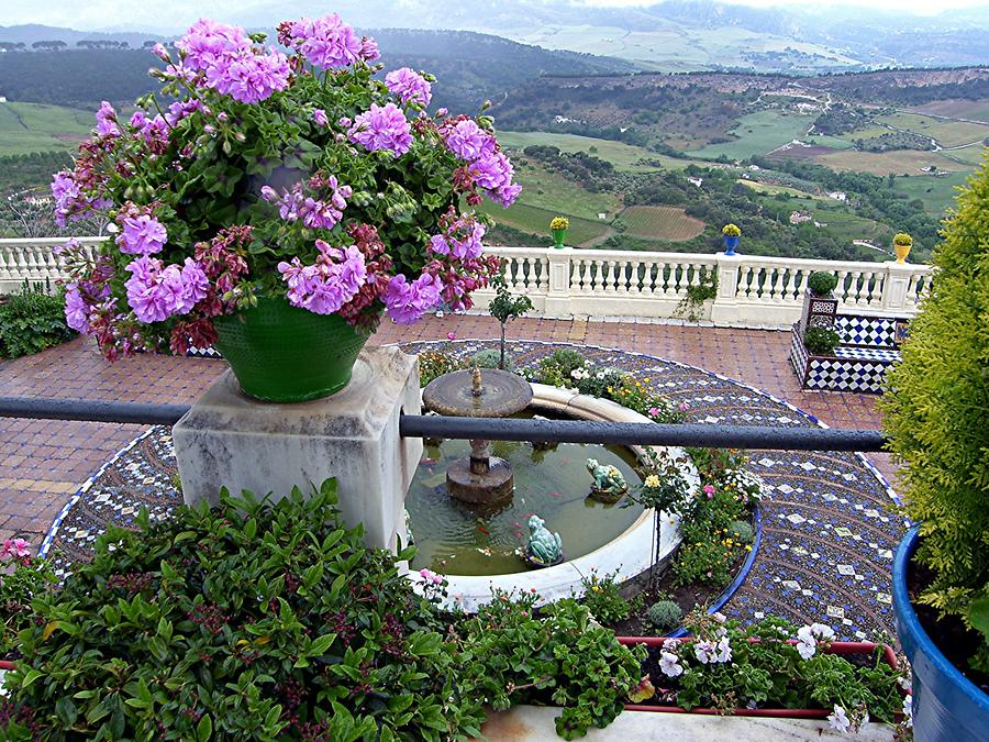 Ronda - View of valley from Don Bosco house