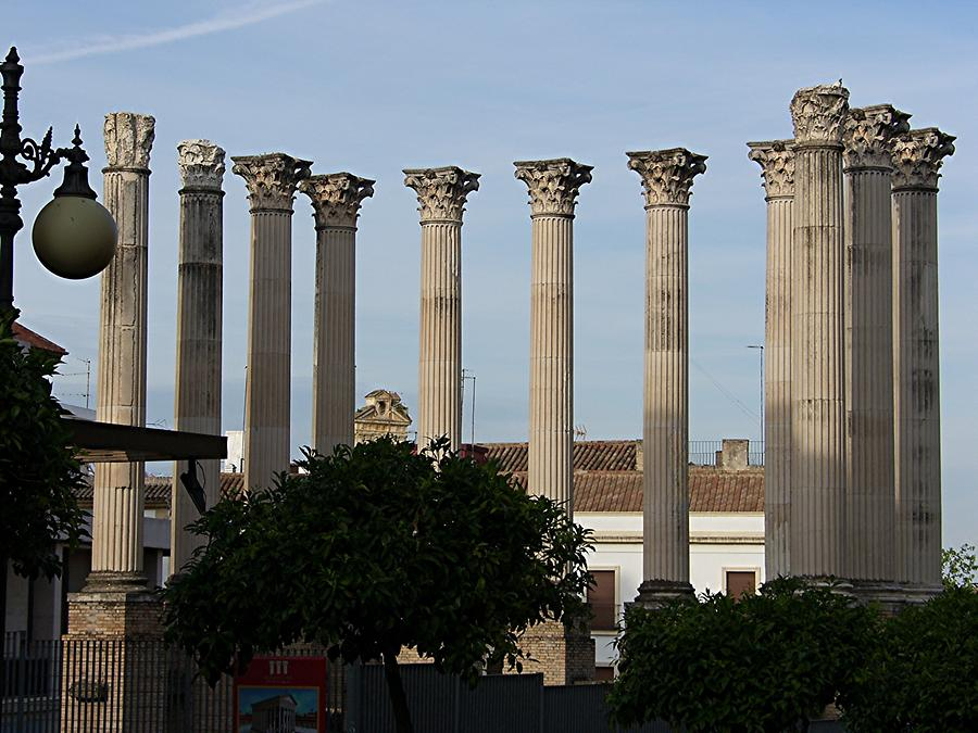 Cordoba Roman Columns in front of Town Hall