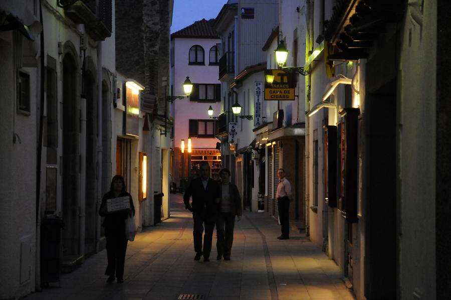 Tossa de Mar at Night