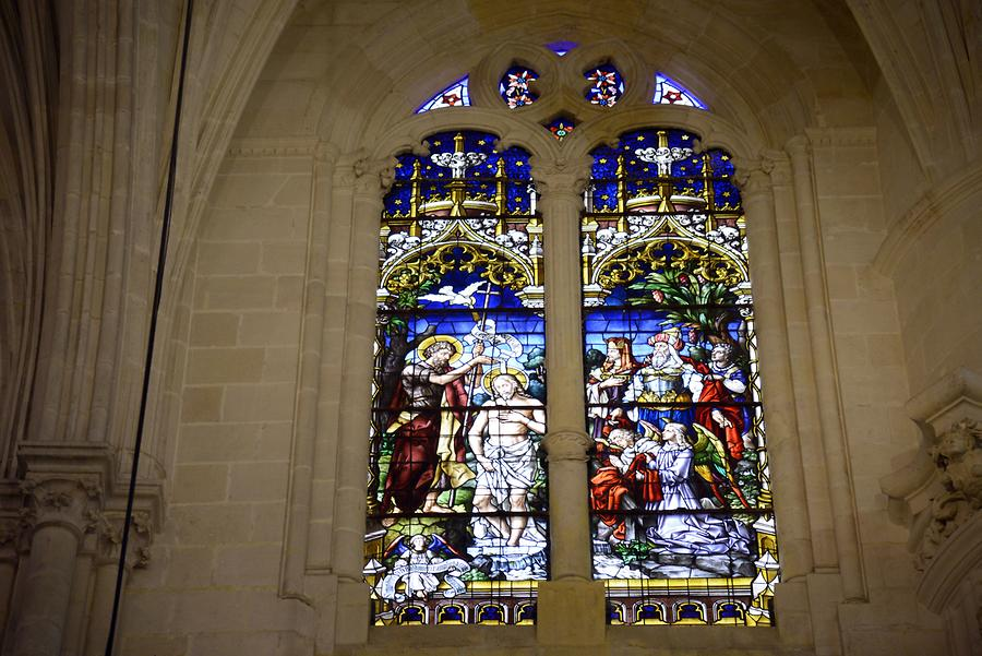 Burgos - Cathedral, Stained-Glass Window