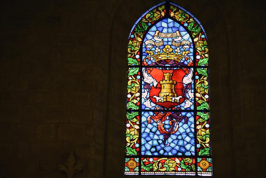 Burgos - San Esteban Church, Stained-Glass Window