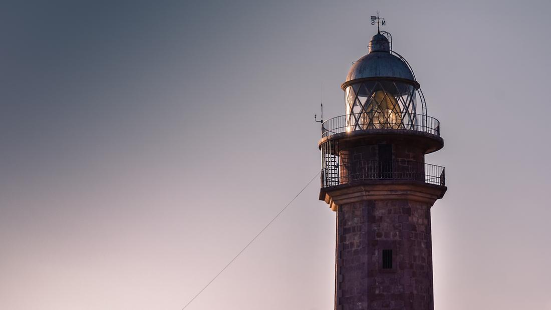 Punta Orchilla Lighthouse (Spanish: Faro de Punta Orchilla). The Lighthouse first became operational in 1933 and is still active in the municipality of El Pinar. El Hierro, Canary Islands, Spain. Photo: Natalia Zmajkovicova