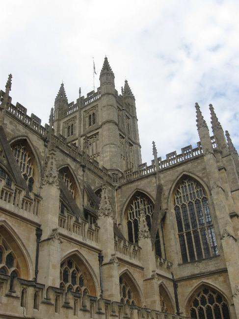 Gothic exterior of Bath Abbey