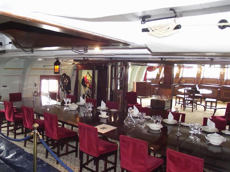 Dining quarters aboard HMS Victory