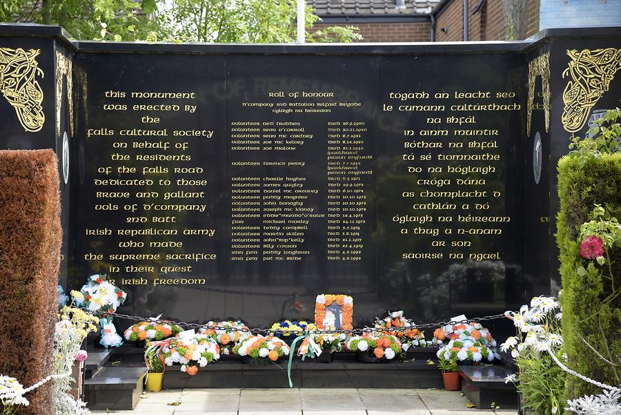 Belfast - Fall District; Garden of Remembrance