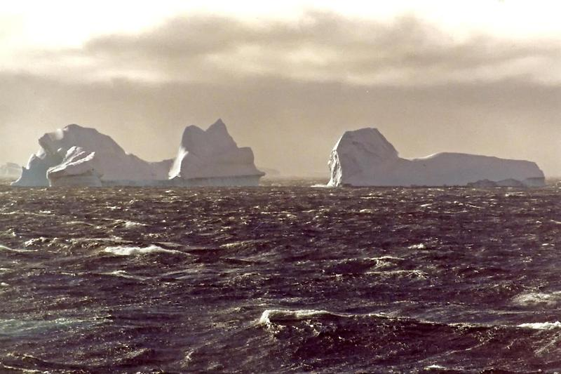 Looming icebergs