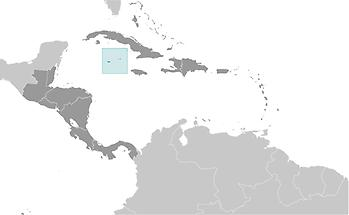 Cayman Islands in Central America and Caribbean
