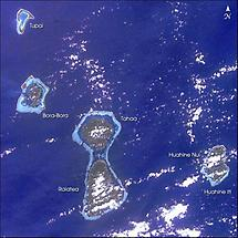 Fringing reefs becoming atolls